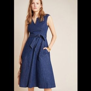 NWT Anthropologie Tracey reese Colma denim dress